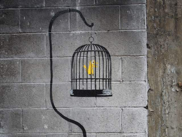 Who was in on Banksy's 'self-destruct' art stunt?