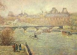 La Seine vue du Pont-Neuf, au fond le Louvre