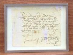 Mandat signé par Jean Calvin - République et canton de Genève et Sotheby's