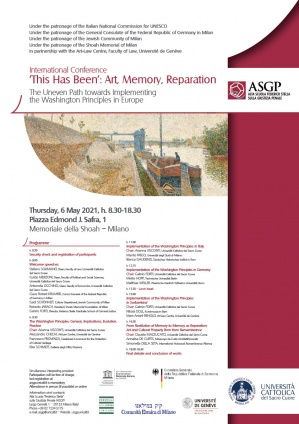 International Conference 'This Has Been': Art, Memory, Reparation