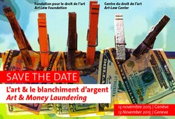 Save the date: L'art et le blanchiment d'argent / Art and Money Laundering