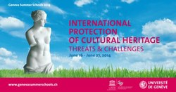 Summer School on Cultural Heritage Law, 16 - 27 June 2014