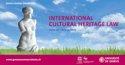 Summer School on International Cultural Heritage Law, 22 June - 3 July 2015